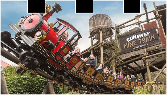 Ride Runaway Mine Train at Alton Towers Resort