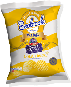 Cheese & Onion - Seabrook Crisps