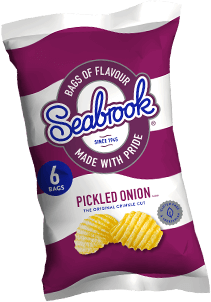Pickled Onion Flavour Seabrook Crisps