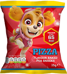 Pizza flavour baked pea snack - Paw Patrol